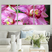 Attractive flower realist canvas painting home deco art prints 3 psc beautiful wall pictures for living room kitchen rooms hotel realist interviewing