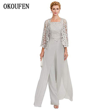 OKOUFEN Mother Of The Bride Dresses for Wedding 2019 Chiffon