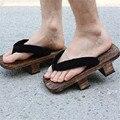 Japonés Cosplay Zuecos Zapatillas De Madera Zuecos Sandalias Par de Suela Gruesa Zapatos de Las Mujeres de Moda Flip Flop