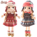 RYRY Plush Phyl Toys Cute littlle Girl with Knit Skirts and Hat Stuffed Sweet Angela Doll Christmas Gift for Kids or Girlfriends