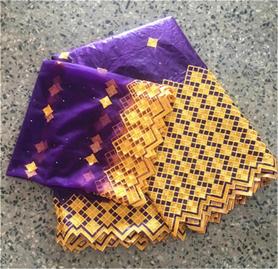 Africano delle donne del ricamo bazin riche tessuto rosso bacino riche getzner 2019 ultime bazin brode getzner tessuto di pizzo 5 + 2 yards/lot