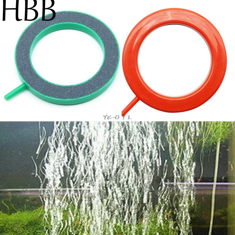 Pet Products <font><b>Aquarium</b></font> Fish <font><b>Round</b></font> Tank Ring Air Stone Pump Bubble Disk Oxygen Plate Silicon carbide &Plastic Ornament 10cm image
