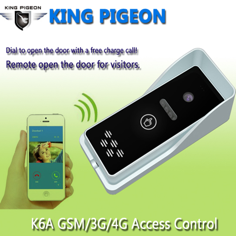 3G GSM Access Control Apartment Intercom Security System One Key To Dial Door Control Remotely By Free Call K6S k6s gsm apartment intercom access control system free call charge door open press button remote controller 850 900 1800 1900mhz