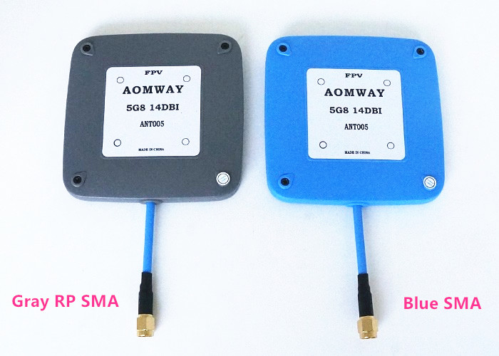 fpv antenna Aomway 5.8GHz 14dBi High Gain flat Mini Panel Antenna for FPV Receiver SMA Male/RP-SMA Female Plug