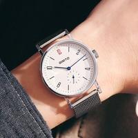 GIMTO Brand Creative Men Watch Quartz Clock Luxury Steel Male Boy Military Watches Waterproof Sport Relogio