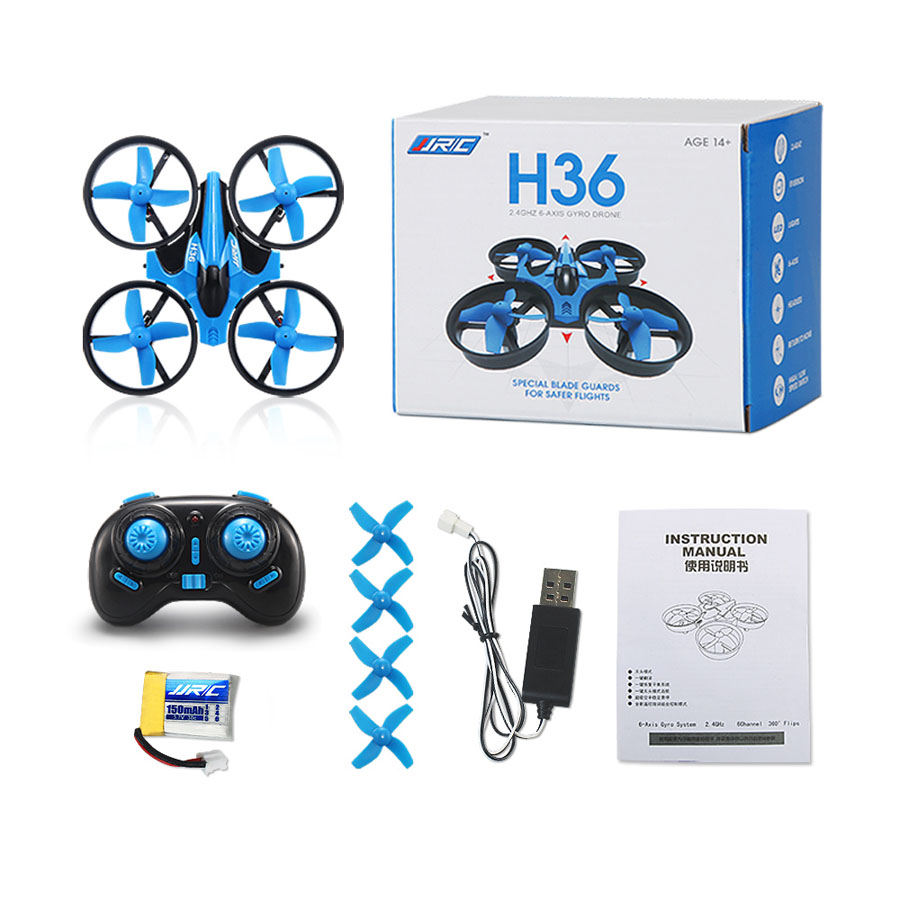 JJRC Mini Quadcopter JJRC H36 RC Drone 2.4GHz 4CH 6 Axis Gyro RC Quadcopter with Headless Mode Drones Flying Helicopter Toys