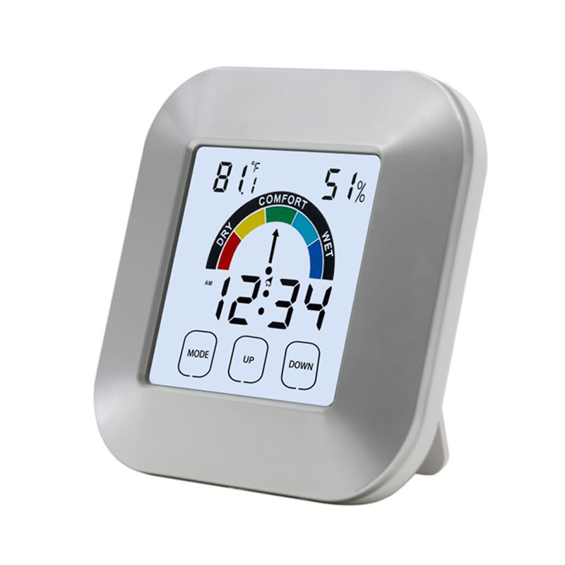 EAAGD Indoor Thermometer Humidity Monitor Touchscreen Backlight Timer Smart Digital Hygrometer Temperature Gauge Humidity Meter