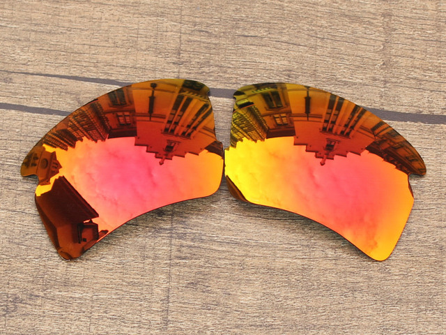 Fire Red Mirror Polarized Replacement Lenses For Flak 2.0 XL Sunglasses Frame 100% UVA & UVB Protection
