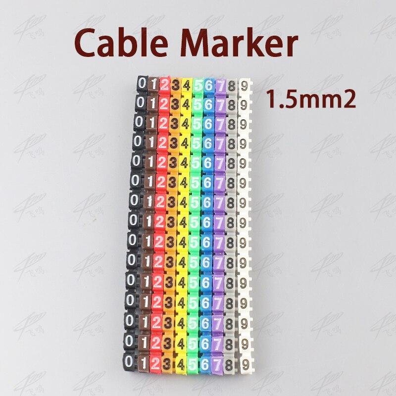 1,5 шт. маркер шт. кабеля для 3750 sqmm цветной номер от 0 до 9 каждый шт. 15 шт. отличить провода