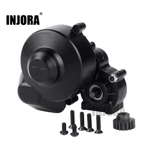 Image 1 - INJORA Plastic Complete Center Gearbox Transmission Box with Gear for Axial SCX10 SCX10 II 90046 90047 1/10 RC Crawler Car
