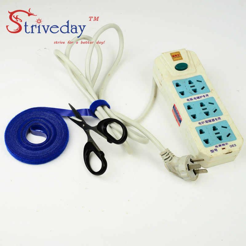 5 m/rolka magiczna trytytka magiczna klamra szerokość 1 cm/Velcroe line kabel komputerowy zestaw słuchawkowy trytytka DIY