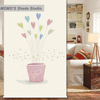 MOMO Thermal Insulated Blackout Fabric Custom Tree Window Curtains Roller Shades Blinds, Alice 113