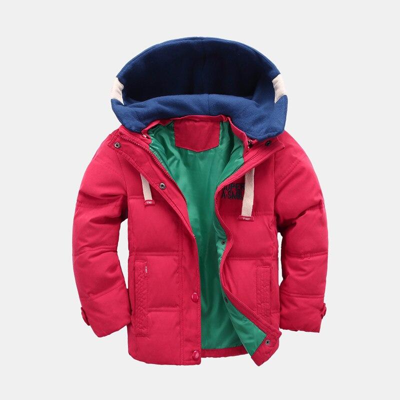 2018 New Hooded Boy Down Jacket winter Children Coat Kids Thick Clothing Baby Girl Winter Down Coat Warm Outwear Infant the boy s new children white eiderdown jacket baby winter coat