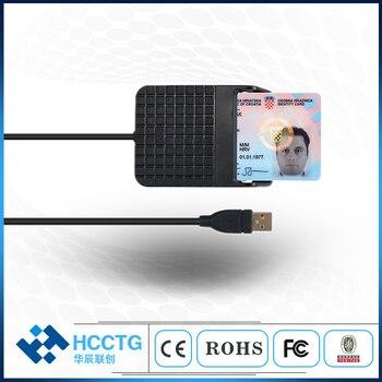 Metal Bracket USB 2.0 Credit Chip Card National ID Card Reader For Computer DCR33