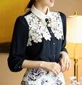 Lace Blusa Vestidos Camisas Women Blouses 2015 Plus Size Flower Blusas Y Camisas Mujer Vetement Femme Women Tops