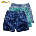 3Pcs/Lot Cotton Underwear Men Plaid Boxer Shots Underpants Muls Brand Top Quality Loose Mans Cuecas Boxer Hot Sale drop Shipping