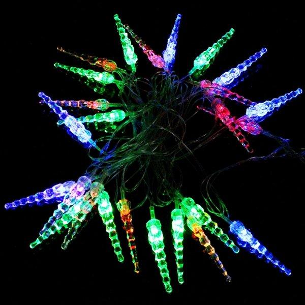 10М 50LED кристал сосулька рядка світло - Святкове освітлення - фото 4