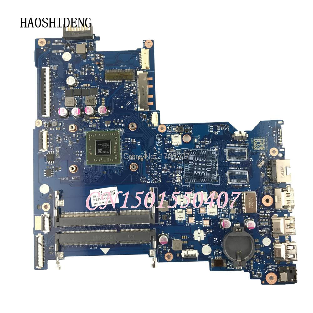 HAOSHIDENG 854966-601 854966-501 BDL51 LA-D711P mainboard for HP Notebook 15-BA laptop motherboard All functions fully Tested!