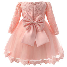 Fancy Baby Lace Christening Gowns Dress For Girl Toddler Girl Baby 1 Year Birthday Outfits Infant Party Princess Costume