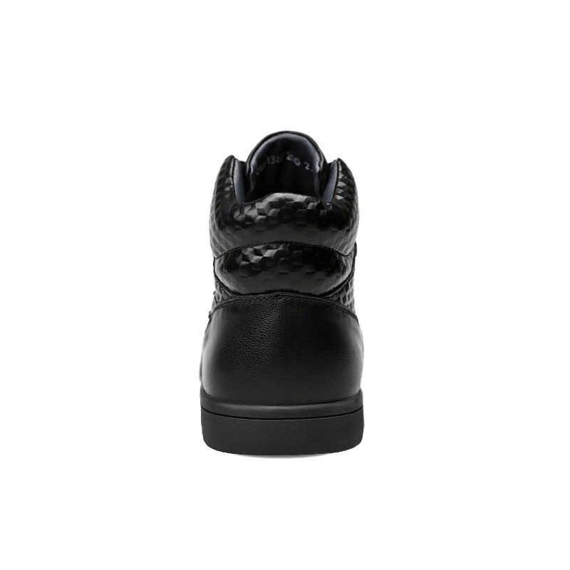 ROXDIA mannen laarzen mannelijke schoenen mode sneeuw winter echt leer warme waterdichte laars voor man schoen big size 39- 44 RXM078