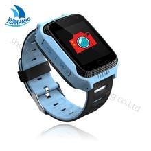 """1.44 """"Pantalla Táctil Inteligente GPS Rastreador LBS Ubicación SOS Llamada Cámara Del Monitor Remoto Linterna Niños Child Watch Reloj PK Q50"""