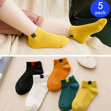 5 Pairs/ Lot Cotton Children Kids Socks for Girls Boys Winter Fall Spring Wear Solid Color Fashion Sports Casual Socks Baby Kids 5 pairs baby girls boys socks character print kids socks for girls clothing brand 100