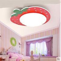 Children's room creative strawberry ceiling lights Simple modern warm romantic kids bedroom energy saving LED lamp LU8281419