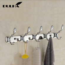 цены Luxury Bathroom wall Robe 5 Hooks Decorative Metal Brass Antique Hook For Towel Coat Clothes Hanging Storage Rack Home Organizer