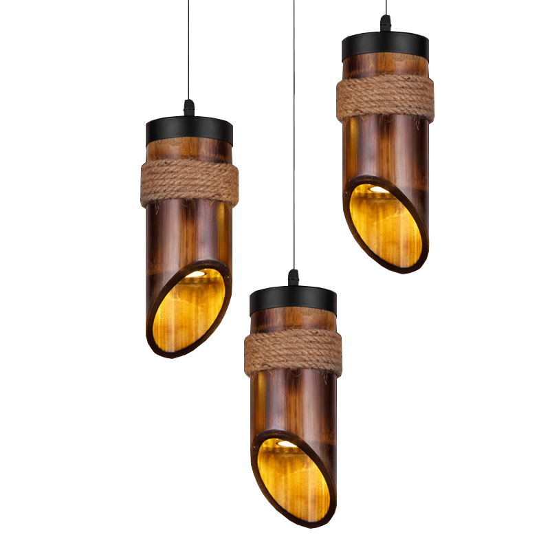 New Chinese bamboo led pendant lights Japanese kitchen bar tea room lights antique pendant lamp country Vintage lighting fixture southeast asian chinese antique tea bamboo rattan lamp chandelier lamp box farmhouse inn lights ya7265
