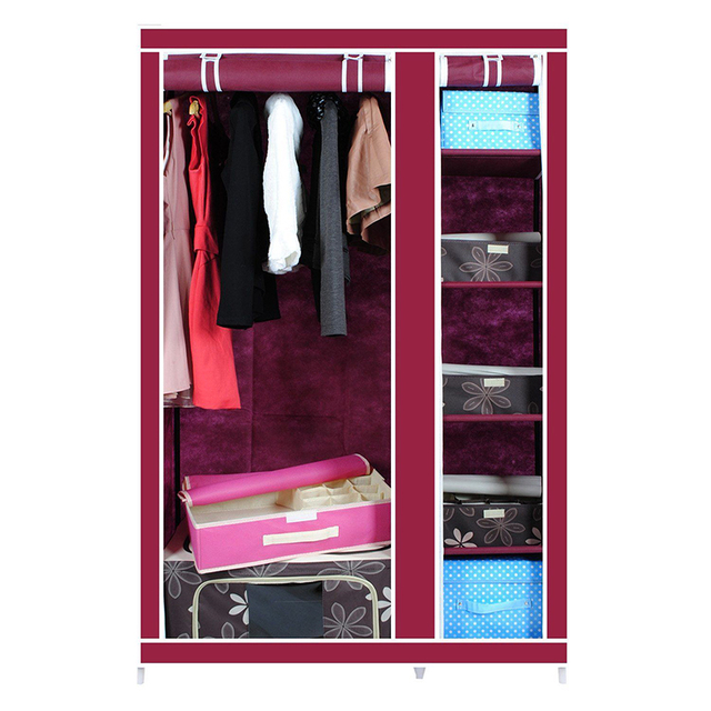 Russian Delivery Wine Red Wardrobes Dust Proof Non Woven Fabric