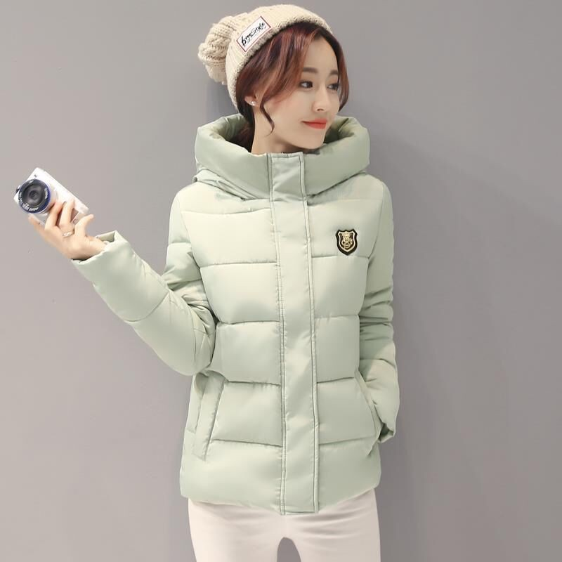 2016New Winter Women Coat Elegant Thicken Hooded Cotton Down Jacket Big yards Warm Jacket Coat Fashion Winter Short Jacket Women