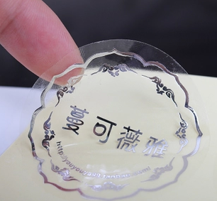 many designs sticker printing custom/and silver foil sticker printing by transparent stikcer