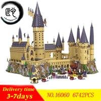 Новый Гарри Волшебный Замок Хогвартс fit legoings Гарри Поттер замок город строительные блоки кирпичи Kid 71043 diy Развивающие игрушки подарок