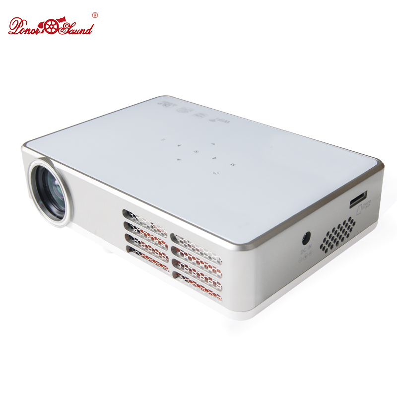 Poner Saund Smart dlp Projector tv home cinema usb Android LED video Beamer lcd wireless projetor 1080p full hd Active theater часы smart usb led