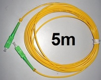 Free Shipping 5pcs/lot SM SX PVC 3mm 5 Meters SC/APC Fiber Optic Jumper Cable SC/APC SC/APC Fiber Optic Patch Cord