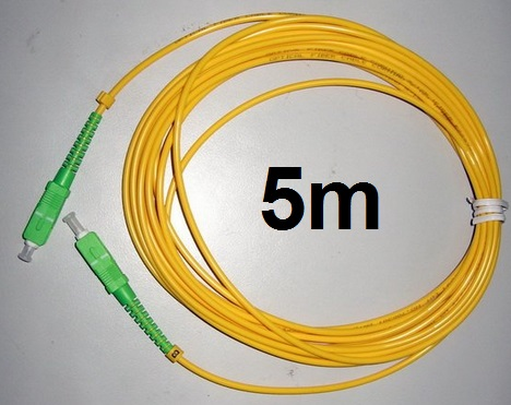 Livraison Gratuite 5 pcs/lot SM SX PVC 3mm 5 Mètres SC/APC Fiber Optique Cavalier Câble SC/APC-SC/APC Fiber Optique Patch Cordon