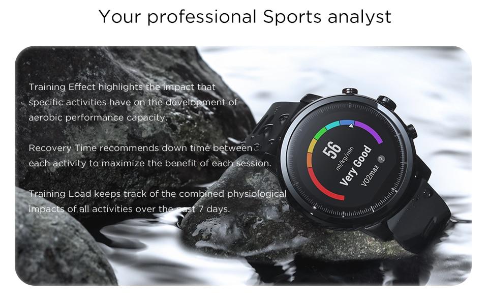 Huami amazfit stratos ritmo 2 smartwatch relógio