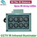 8pcs IR LEDs 30/45/60/90 Degrees Array IR illuminator infrared lamp ArrayLed IR Light Outdoor Waterproof for CCTV Camera
