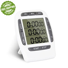 Digital Kitchen Timer, electronic three channel countdown timer, free shipping new and original digital timer h3cr g8el well tested working free shipping