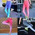 Ladies Yoga Leggings Gradient Color Fitness Running Gym Sport Pants Trousers New