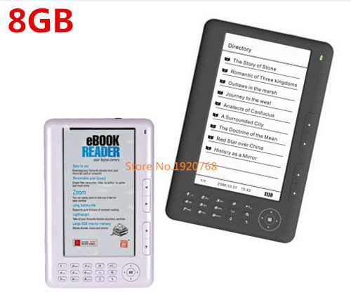 ereader 20pcs ship by dhlfedex 7inch screen ebook reader 8gb pdf ebook mp3 video