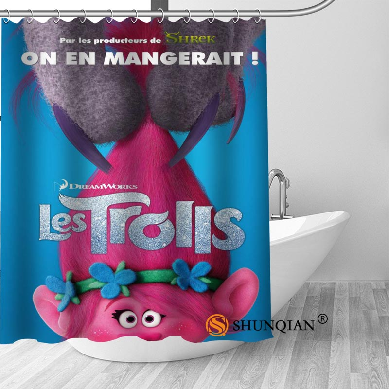 Custom Shower Curtain With Hooks Trolls Bathroom Curtains High Quality Polyester Bath Home Hotel Decoration In From