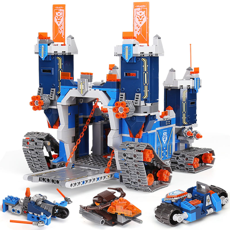 Lepin 2018 Nexus Knights The Fortrex Castle Building Block Clay Aaron Fox  Axl Compatible Brick Toy Children legoingly 70317 Toys c662c379763