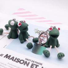 Funny Lovely Green Frog Keychain With Keyfob Kids Toy Gift Decorate Bag Keychains Beautiful Keyring  Fashion anime keychain цены