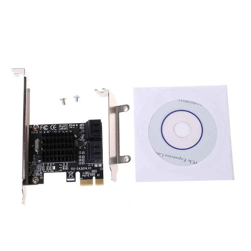 88SE9215 PCIE לsata כרטיס PCI-E מתאם Express כדי SATA3.0 הרחבת כרטיס 4 יציאת SATA III 6G SSD HDD IPFS כרייה