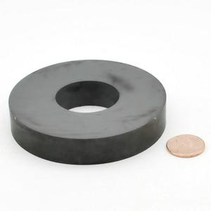 """Image 3 - Magnes ferrytowy pierścień średnica zewnętrzna 80mm 3 """"duża klasa C8 ceramiczne magnesy dla majsterkowiczów głośnik głośnik pokładzie użytku domowego 1pc"""