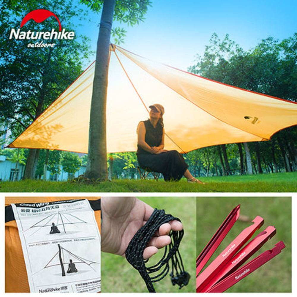 Outdoor Waterproof Tarp Tent Shelter Ultralight Family Camping Shelter UV Protection For Sunshade 4 1 5m sun shelter sunshade camouflage tent outdoor waterproof awning sun shelter sunshade camping mat for picnic t15 0 5