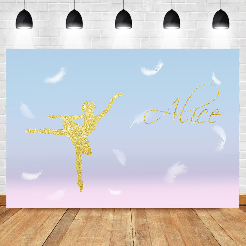 Alice Ballet Girl photo background White Feather Powder Blue Photography Backdrops For Photo Studio in Background from Consumer Electronics
