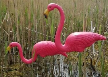 Pink Flamingo Garden Ornaments Lawn Themed Party