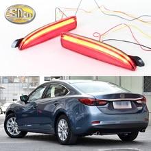 Для Mazda 6 2016 2017 2018 SNCN multi-функции автомобильный светодио дный сзади туман фонарь бампер света авто Стоп указатель поворота отражатель